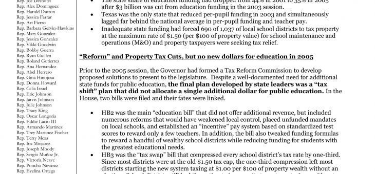 School Finance and Property Tax Relief: We Cannot Afford to Fail our Students, Teachers, and Taxpayers Again